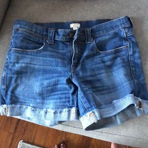 Jean shorts from crew